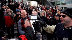 Rick Campbell with Grey Cup