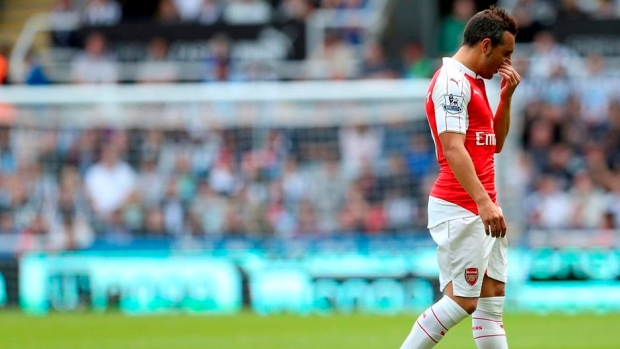 Santi Cazorla out for three months with ankle injury