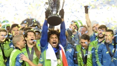 Seattle Sounders celebrate MLS Cup