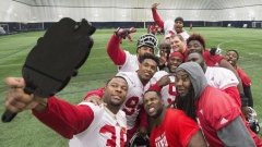 Calgary Stampeders take selfie
