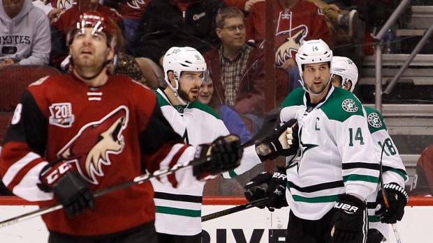 Stars Win Heated Game Vs Coyotes Article Tsn