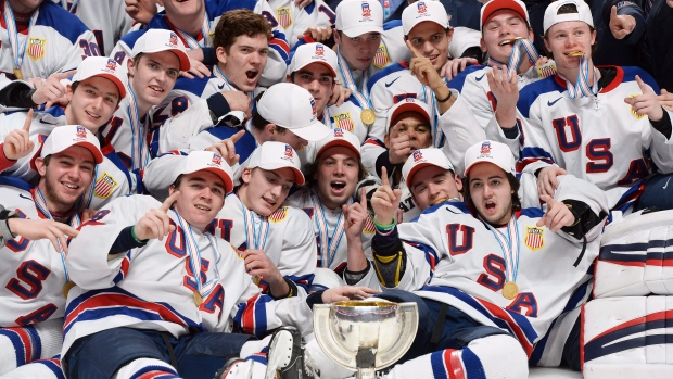 USA edges Canada in SO for world junior gold