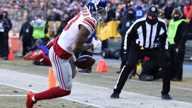 Odell Beckham Jr. drops ball