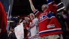 Montreal Canadiens Fans celebrate