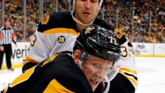 Zdeno Chara and Patric Hornqvist