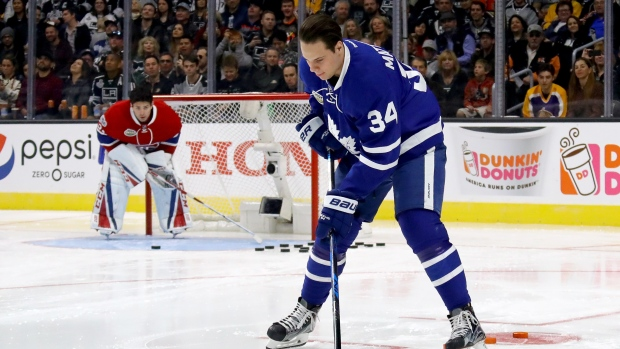 Auston Matthews at NHL All-Star Game Skills competition