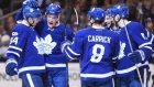 Auston Matthews, Maple Leafs celebrate