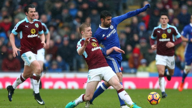 Diego Costa and Ben Mee