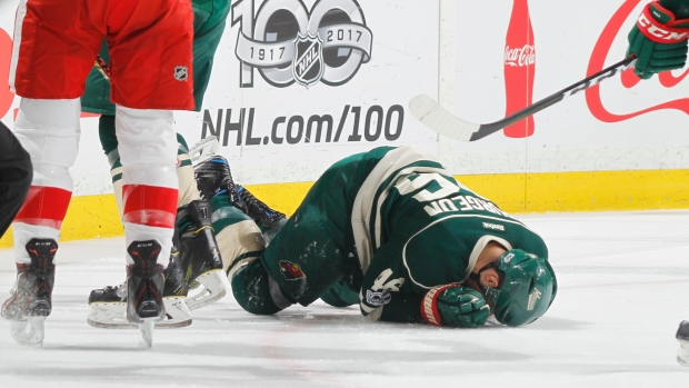 Wild's Jared Spurgeon OK after risky  spear against Red Wings