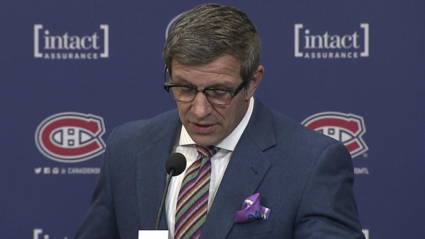 Marc Bergevin news conference