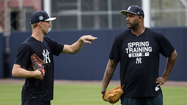 Chasen Shreve and CC Sabathia