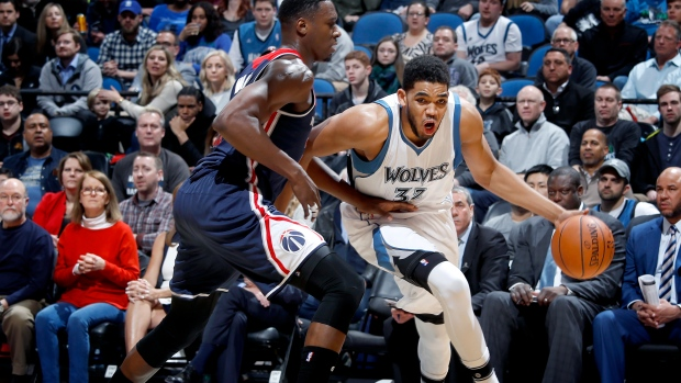 Towns, Rubio lead Wolves over Wizards - TSN ca