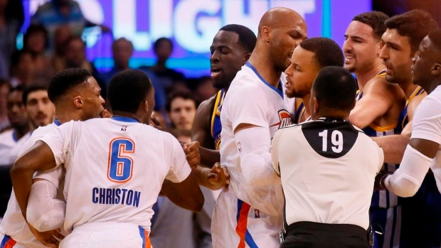 Mix-up between Thunder and Warriors