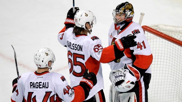 Ottawa Senators celebrate