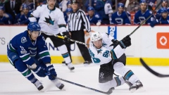 Sharks beat Canucks, lose Joe Thornton to apparent left leg injury Article Image 0