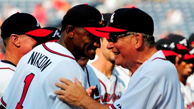Otis Nixon and Bobby Cox