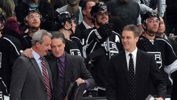 Darryl-sutter-dean-lombardi-and-luc-robitaille