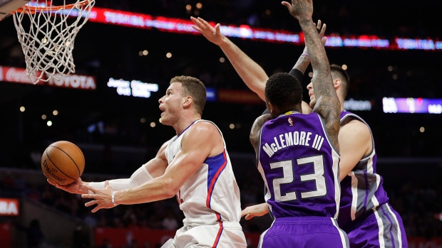 Blake Griffin, Ben McLemore and Georgios Papagiannis
