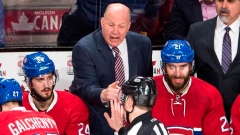 Claude Julien yells at referee