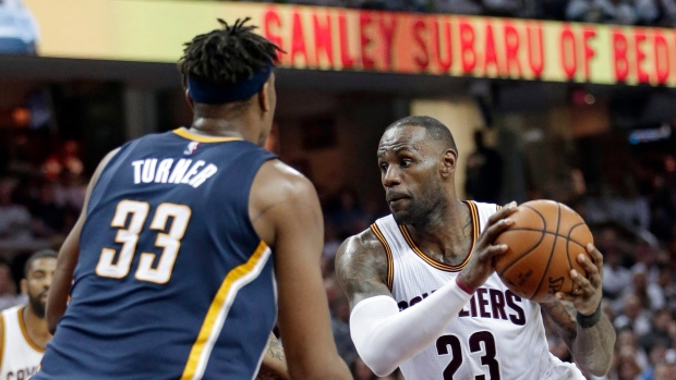 04a9d9fbb890 Cavs escape Game 1 with win over Pacers - TSN.ca