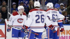 Montreal Canadiens celebrate goal