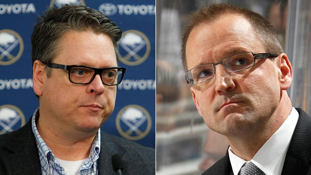General Manager Tim Murray and Head Coach Dan Bylsma
