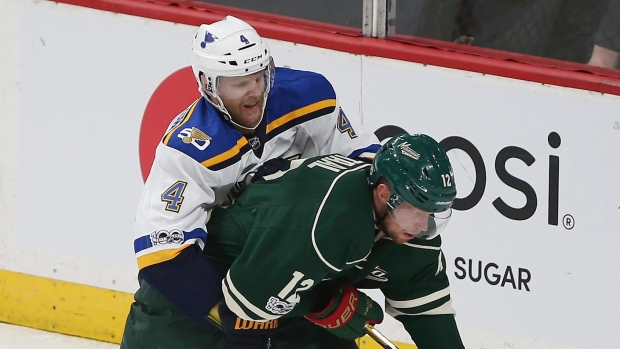 Eric Staal and Carl Gunnarsson