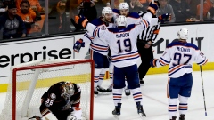 Mark Letestu, Oilers celebrate