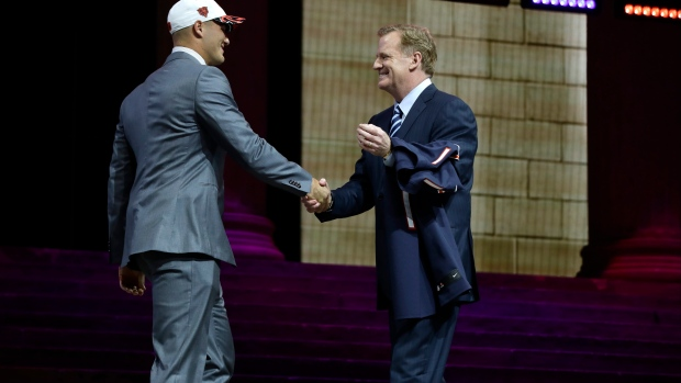Mitchell Trubisky and Roger Goodell