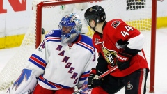 Jean-Gabriel Pageau and Henrik Lundqvist