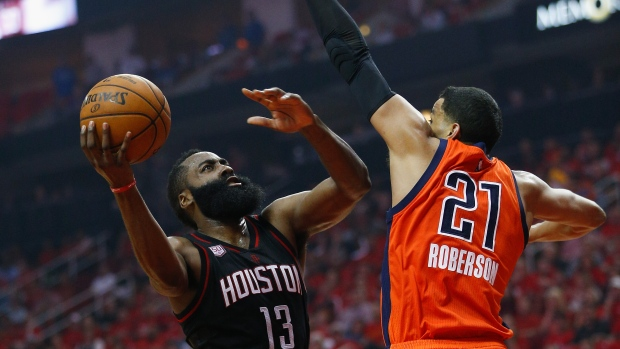 James Harden and Andre Roberson