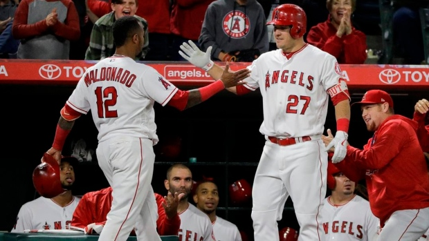 MRI on Mike Trout's tight hamstring looks normal, Angels say