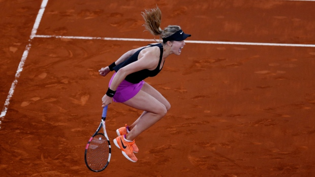 Eugenie Bouchard through to Madrid Open quarters after Angelique Kerber retires