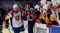 Dylan Strome (No. 19) celebrates