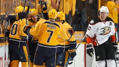 Colton Sissons, Nashville Predators celebrate