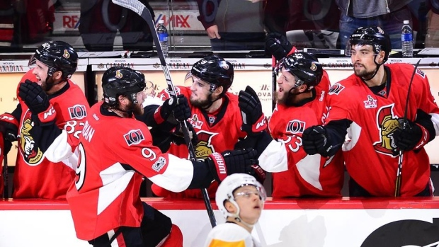 Bobby Ryan & Ottawa Senators celebrate