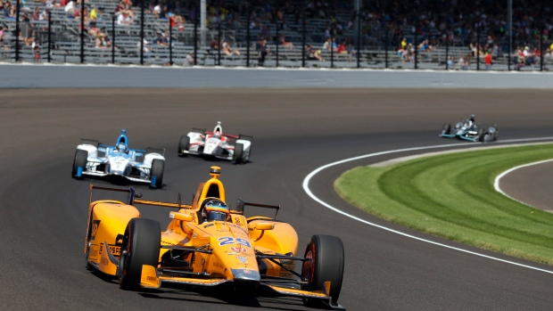 Dixon has pole, Alonso has spotlight at Indy