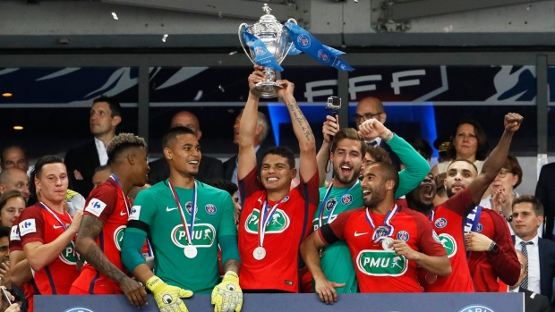 PSG wins French Cup with late own goal, topping Angers