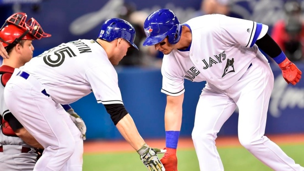 Troy Tulowitzki and Russell Martin