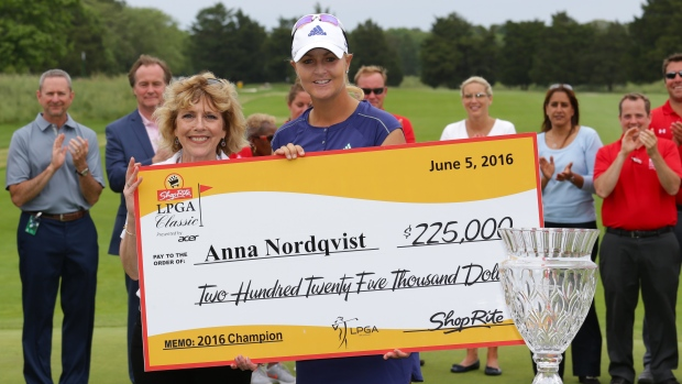 Defending champ Nordqvist shoots 7-under 64 for LPGA lead