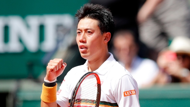 Luck and ideal tennis sends Nishikori to French Open QF