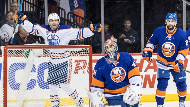 Eberle celebrates vs. Islanders