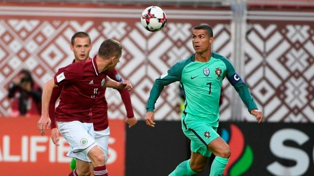 Cristiano Ronaldo starts for Portugal against Latvia