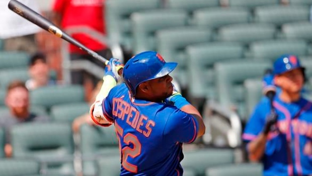 Cespedes returns to Mets' lineup in 1st game of doubleheader