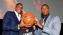 Kyle Lowry and Masai Ujiri