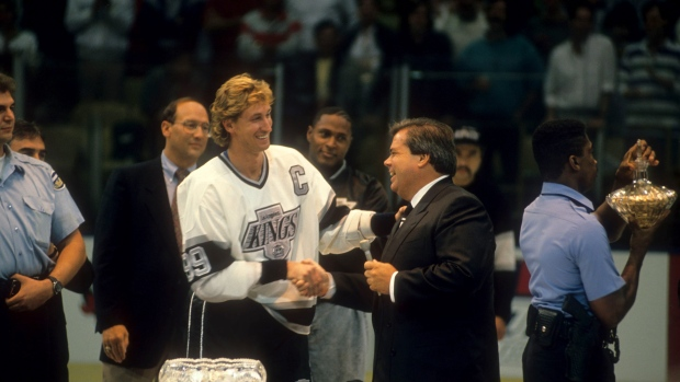 Wayne Gretzky and Bruce McNall