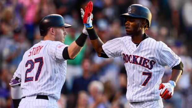 tapia finishes just shy of cycle rockies beat reds   tsn ca