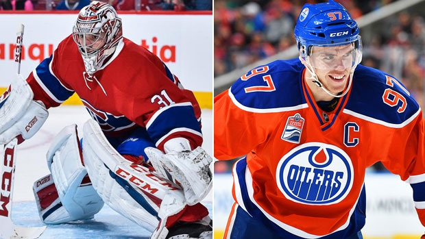 Carey Price and Connor McDavid