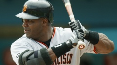 Barry Bonds is up to bat
