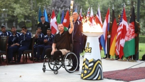 Spirit Flame for Invictus Games lit in Kabul